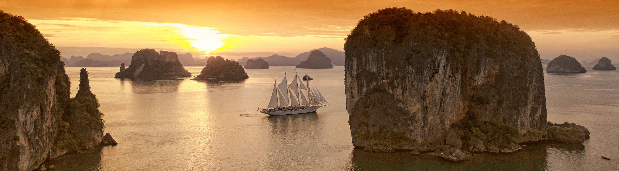 Star Clipper bei Sonnenaufgang in Thailand