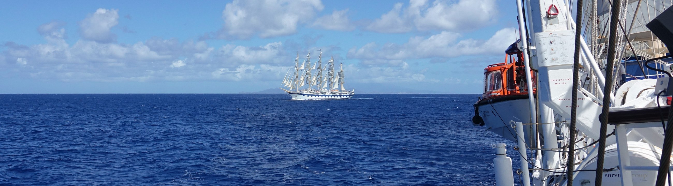 Royal Clipper as seen from Star Flyer